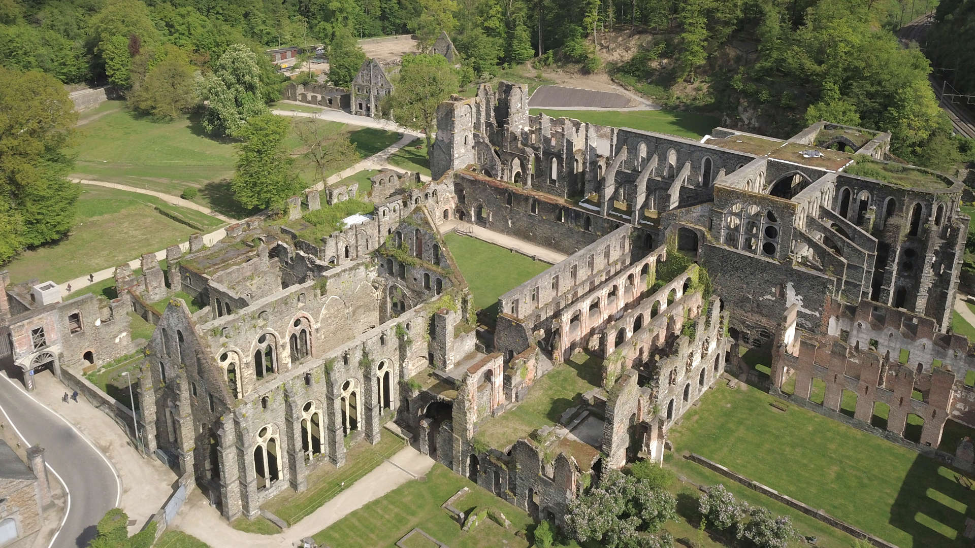 Villers Abbey - View from the sky