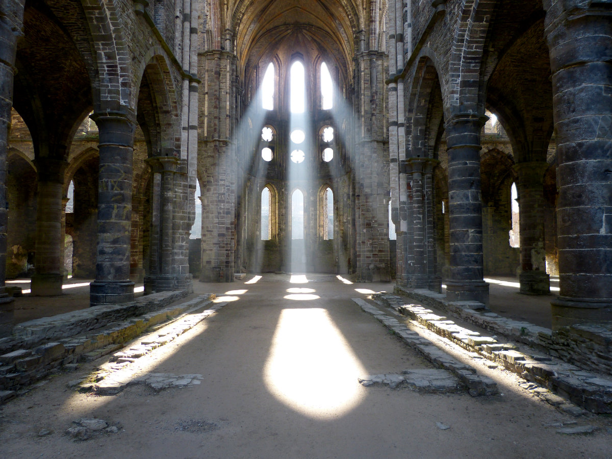 L'église abbatiale de l'abbaye de Villers