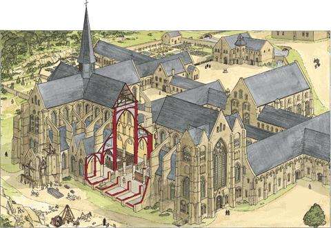 L'église, vue en coupe